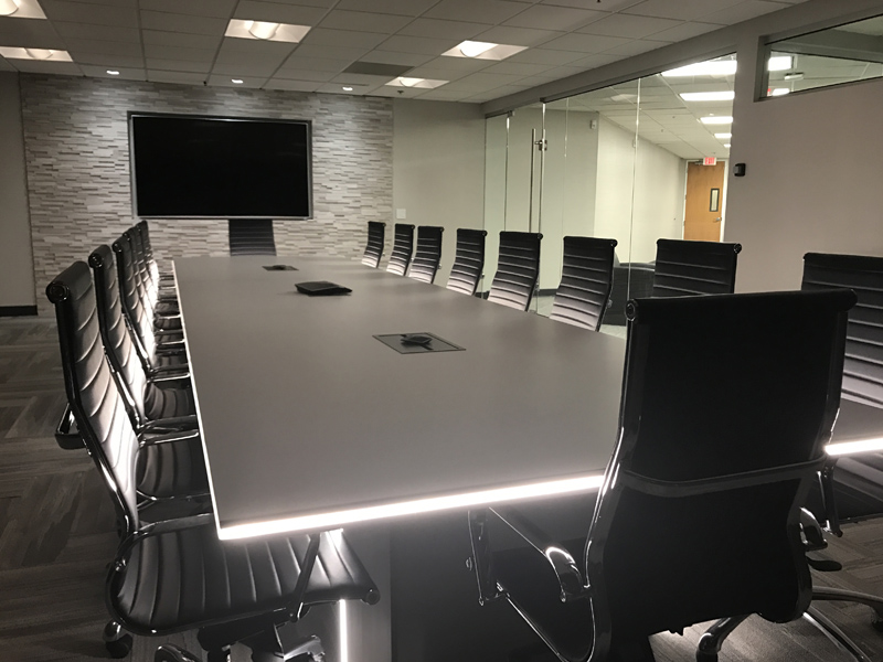 conference room with office furniture