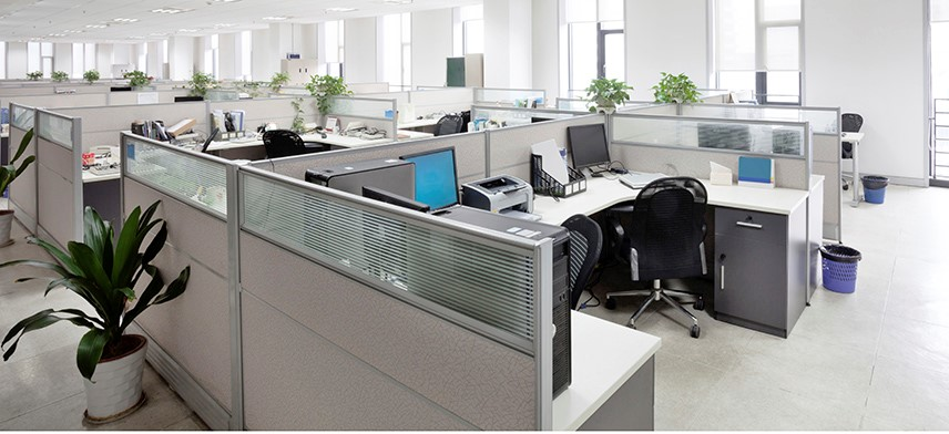 workstations in office