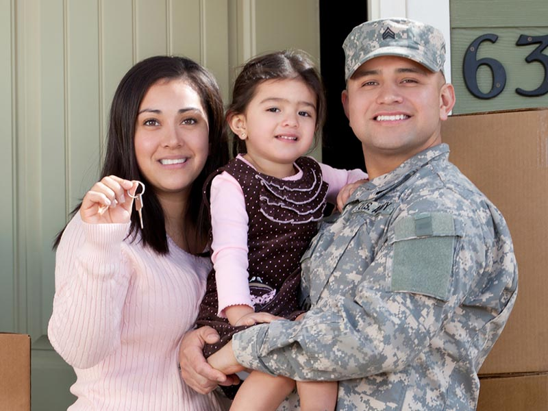 military family during relocation