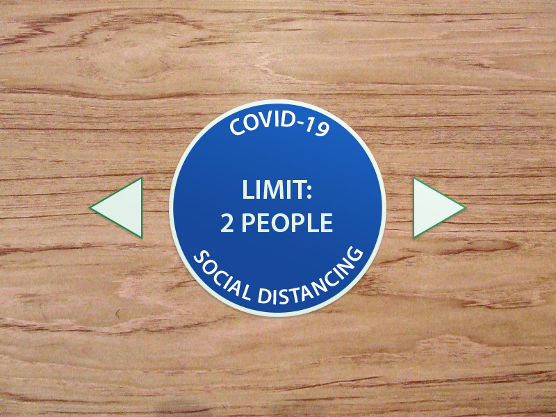 covid-19 social distancing solution table decal