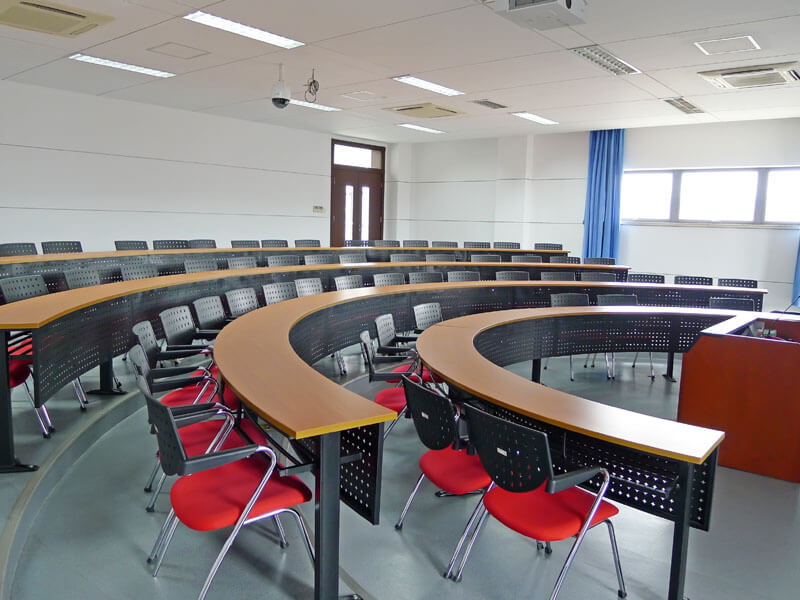 training classroom with chairs at college campus